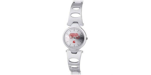Dámske hodinky v striebornej farbe Le Temps des Cerises