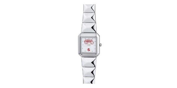 Dámske hodinky s červenými detailmi Le Temps des Cerises