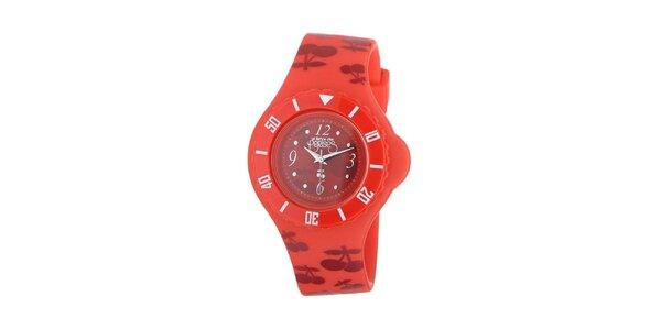 Dámske červené hodinky Le Temps des Cerises