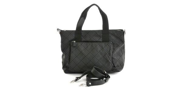 Dámska čierna vzorovaná kabelka Gianfranco Ferré