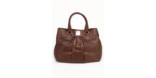 Dámska hnedá kožená kabelka Gianfranco Ferré