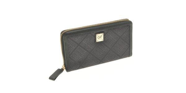 Dámska veľká čierna peňaženka Gianfranco Ferré