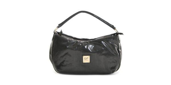 Dámska čierna lesklá kabelka Gianfranco Ferré