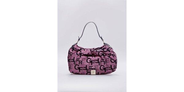 Dámska ružová kabelka s písmenkami Gianfranco Ferré