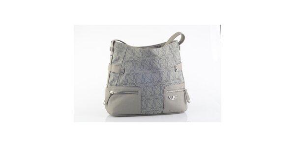 Dámska šedá kabelka so vzorom Versace