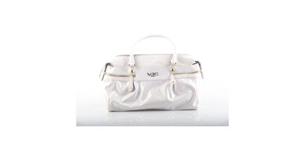 Dámska biela lakovaná kabelka Versace