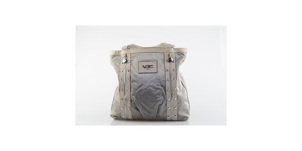 Dámska šedá kabelka s cvočkami Versace