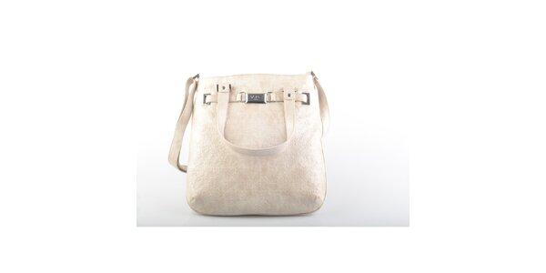 Dámska béžová kabelka cez rameno Versace