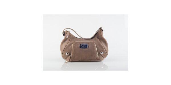 Dámska svetlo hnedá kabelka Versace