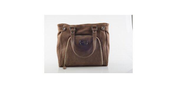 Dámska hnedá kabelka Versace