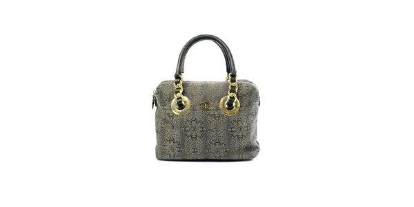 Dámska šedá kabelka so vzorom Just Cavalli