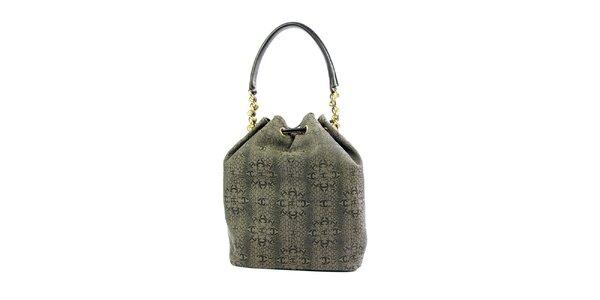 Dámska šedá vzorovaná kabelka Just Cavalli