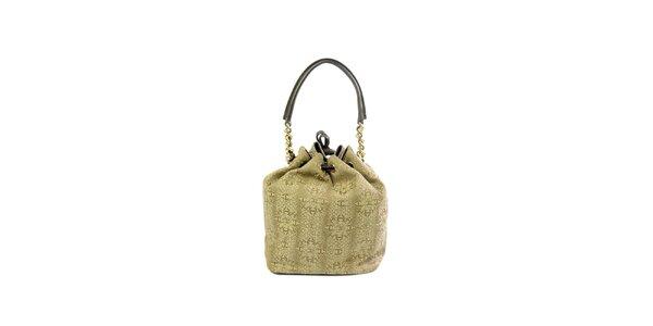 Dámska béžová kabelka so vzorom Just Cavalli