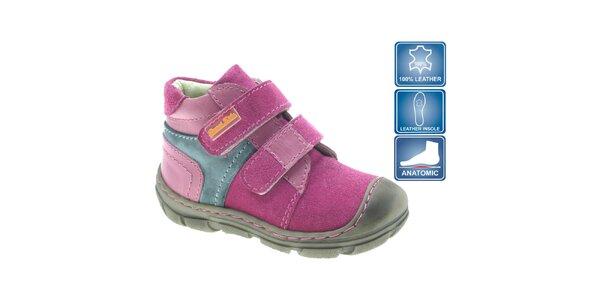 Detské ružové členkové topánky Beppi