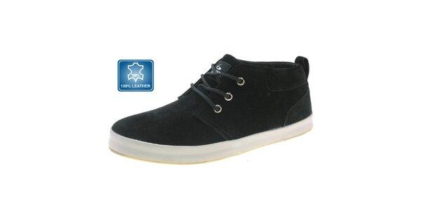 Pánske čierne semišové topánky Beppi