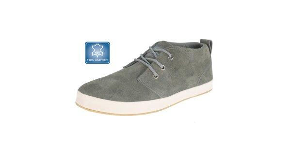 Pánske šedé semišové topánky Beppi