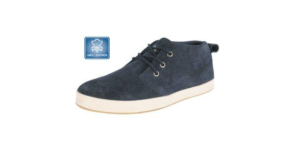 Pánske tmavo modré semišové topánky Beppi