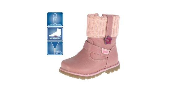 Detské ružové anatomicky tvarovné topánky Beppi