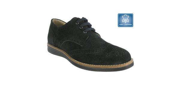 Dámske čierne topánky s perforáciou Beppi
