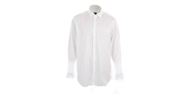 Pánska biela obleková košeľa s prúžkom Pietro Filipi