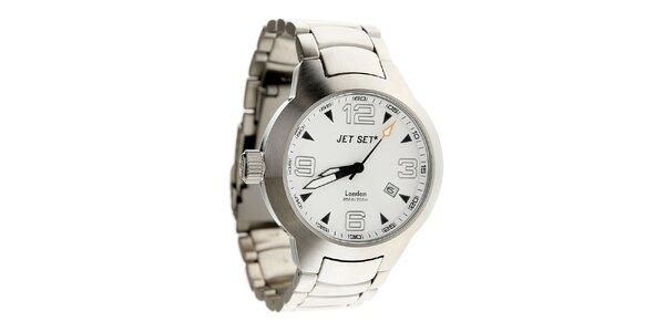 Ocelové hodinky Jet Set s bielym ciferníkom