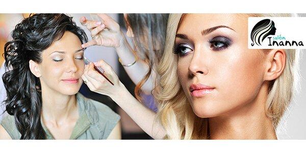Večerný spoločenský účes a make-up