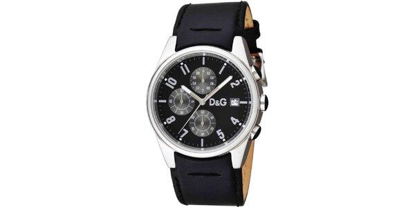 Pánske hodinky z nerezovej ocele s koženým remienkom Dolce & Gabbana