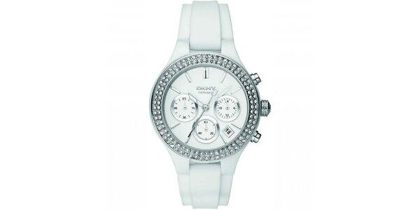 Dámske hodinky so silikónovým remienkom DKNY