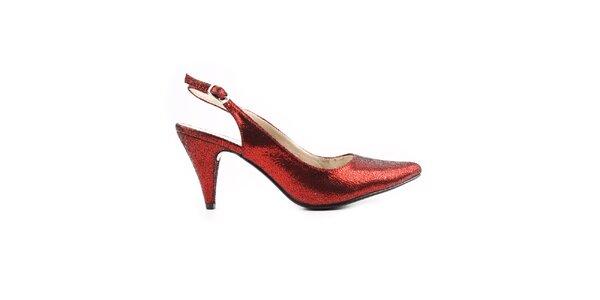 Dámske červené remienkové topánky Paolo Santini