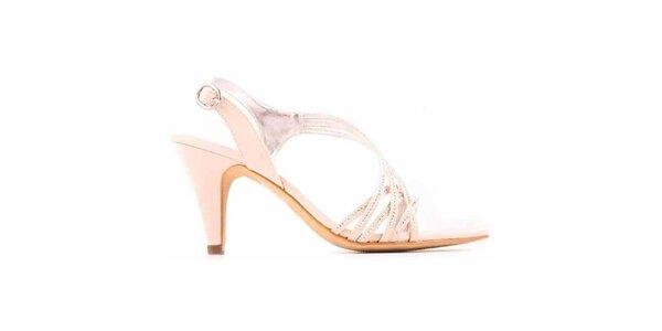 Dámske remienkové topánky vo farbe slonovinovej kosti Les Provencales