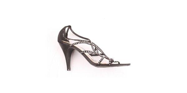 099f66800626 Dámske čierne sandálky s kamienkami Spot On