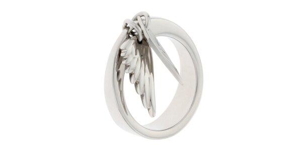 Dámsky oceľový prsteň s krídlami Miss Sixty