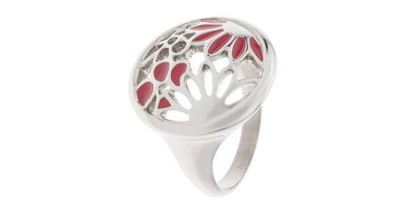 Dámsky oceľový prsteň Miss Sixty s kvetinami
