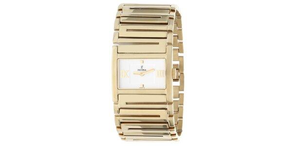 Dámske hodinky v zlatej farbe Festina