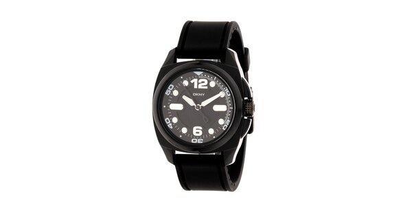 Dámske čierne športové hodinky DKNY
