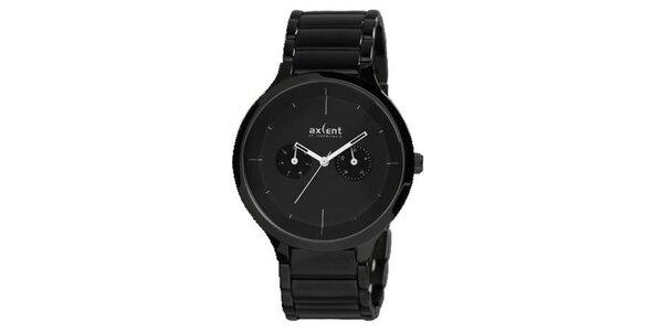 Pánske čierne hodinky Axcent
