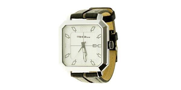 Unisexové čierne oceľové hodinky s hranatým ciferníkom RG512 140958f8cc