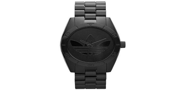 Čierne oceľové hodinky Adidas
