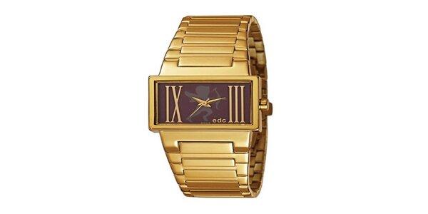 Pozlátené hodinky s oceľovým remienkom EDC by Esprit