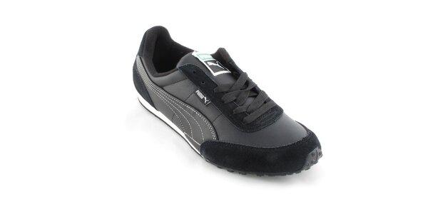 Pánske čierne tenisky Puma