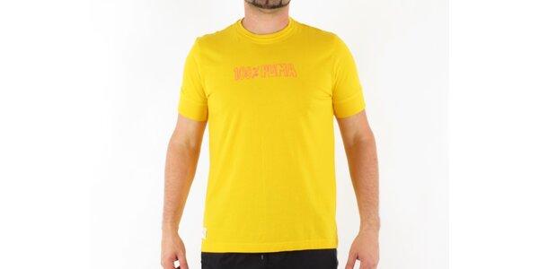 Pánske žlté tričko Puma