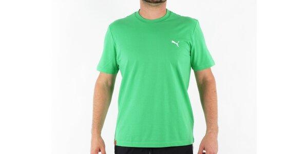 Pánske zelené tričko Puma