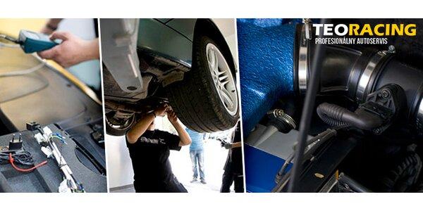 Sezónna prehliadka vozidla, oprava bodiek na čelnom skle či povysávanie