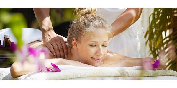 45 minútová havajská masáž Lomi Lomi