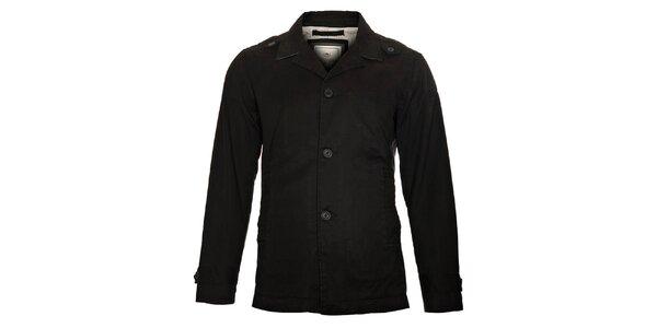 Pánsky čierny kabát Timeout