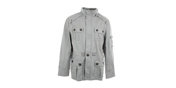 Pánska šedá bunda so stojáčikom Timeout