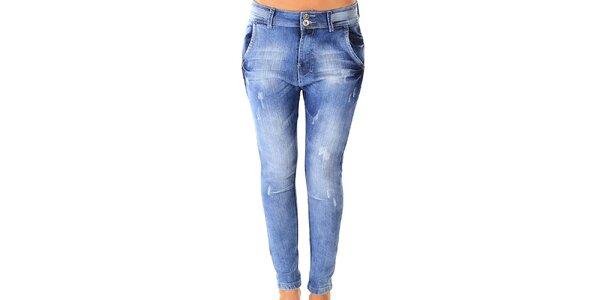 Dámske svetlé skinny džíny s šisovaním Ada Gatti