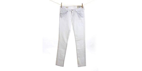 Dámske biele slim fit džínsy Pepe Jeans