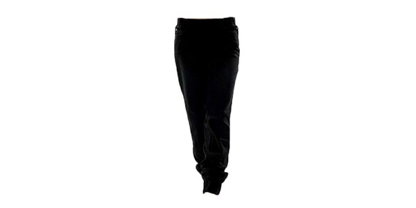 Dámske čierne nohavice s elastickým pásom Ruby London