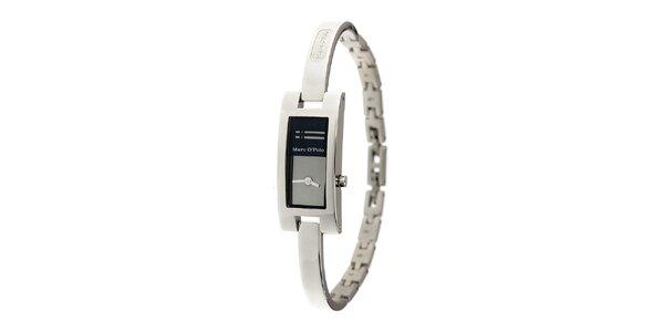 Dámske ocelové hodinky Marc O´Polo s tmavo modrými detailami